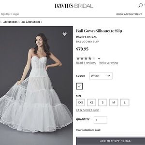 David's Bridal Ball Gown Silhouette Slip